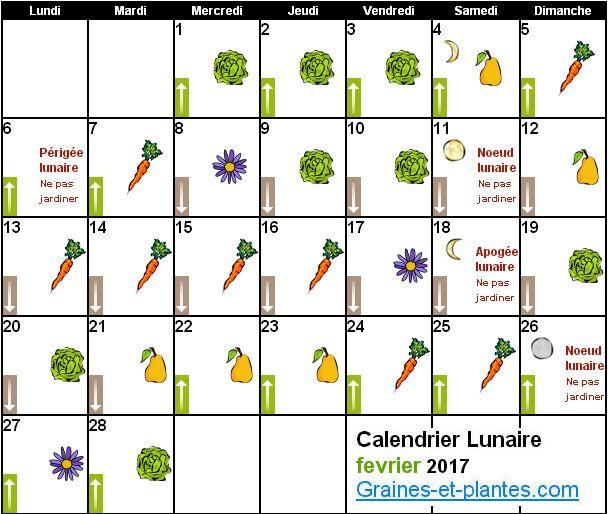 Calendrier Lunaire Fevrier.Calendrier Lunaire Pour Jardiner Avec La Lune Trucs