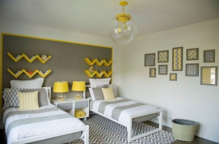 Couleur chambre enfant 35 id es part la peinture murale - Idee couleur peinture chambre garcon ...