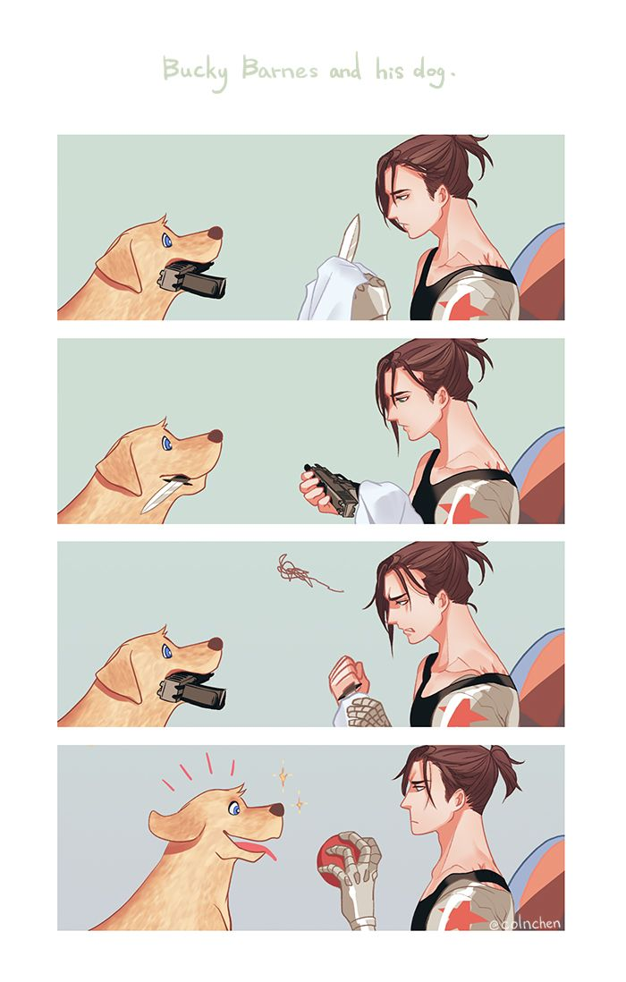 PTSD: The Soldier's Diaries Bucky Barnes and his dog |Day 3
