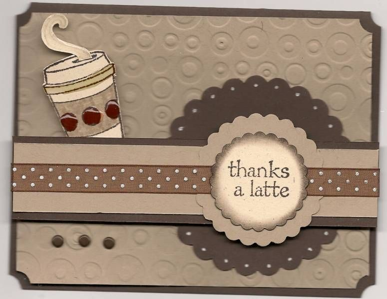 handmade card: Cup of Latte by LPuite ... monochromatic ...