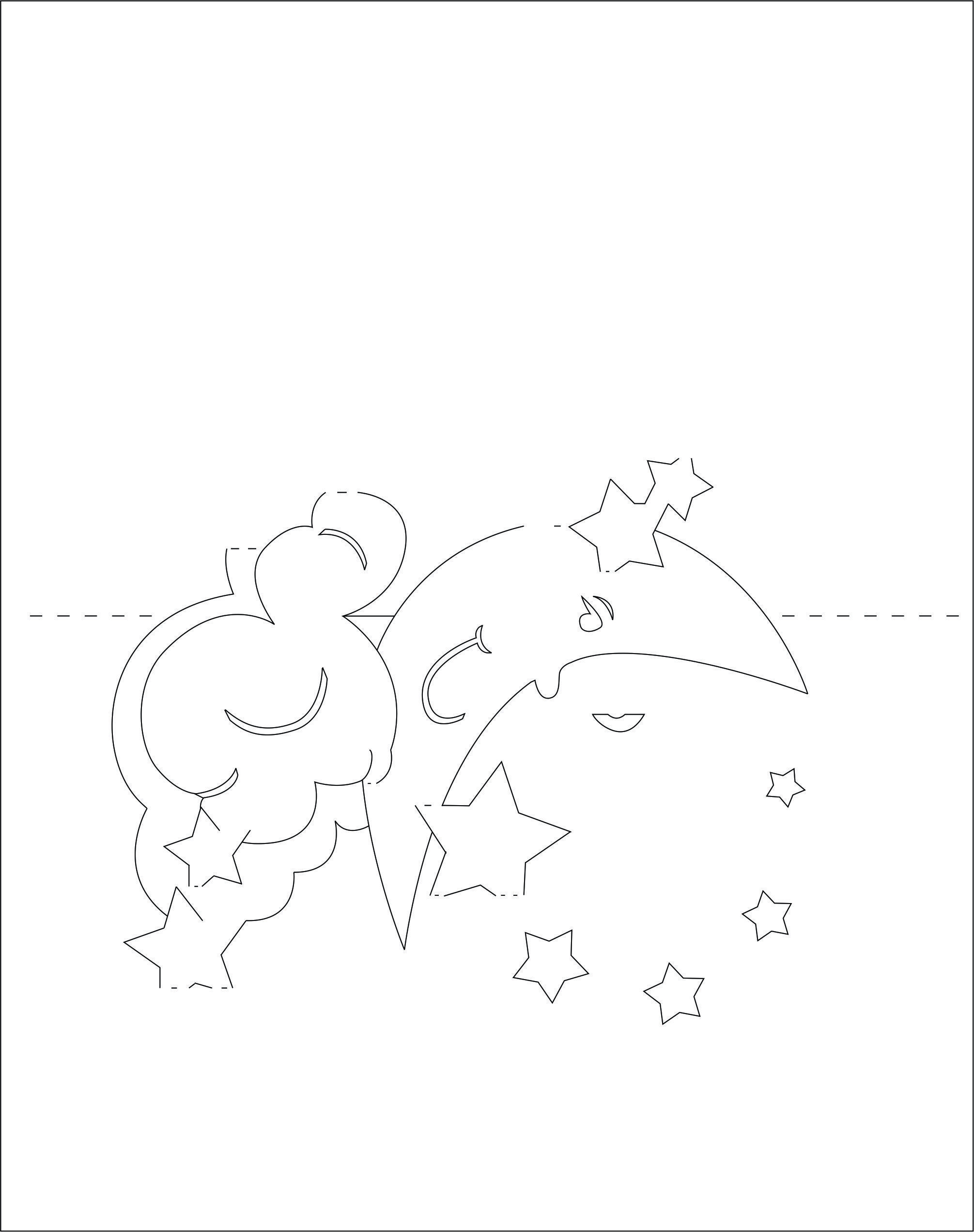 Moon And Stars 3d pop-up card/kirigami pattern 1 | laser y router ...