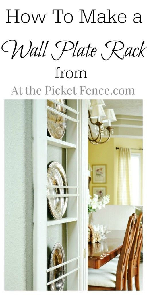 DIY Wall Plate Rack - At The Picket Fence  sc 1 st  Pinterest & DIY Wall Plate Rack | Plate racks Fences and Display