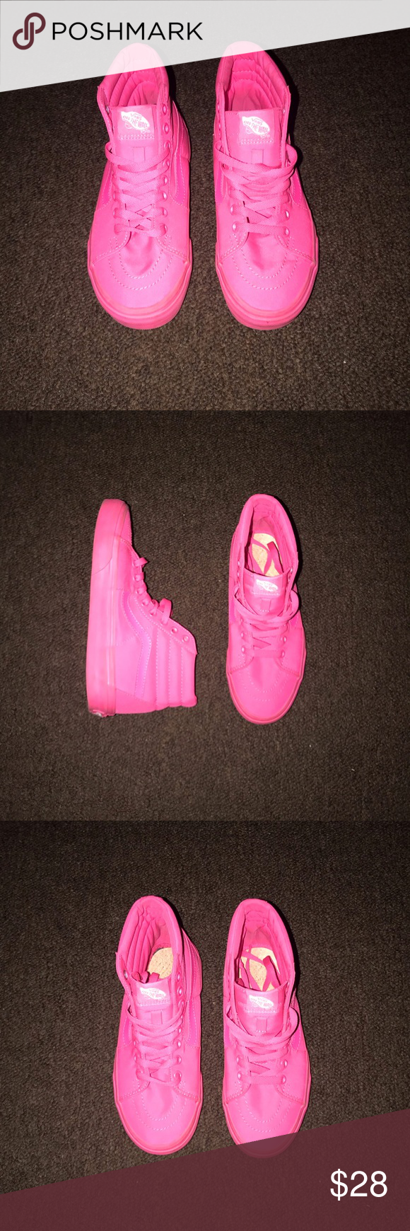Highlighter Pink Vans. 👟 Cleaning out