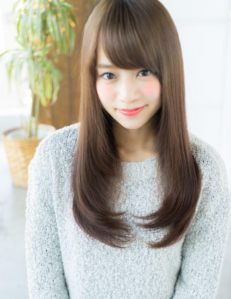 小顔おろし前髪ストレートスタイル Ry 152 ヘアカタログ 髪型