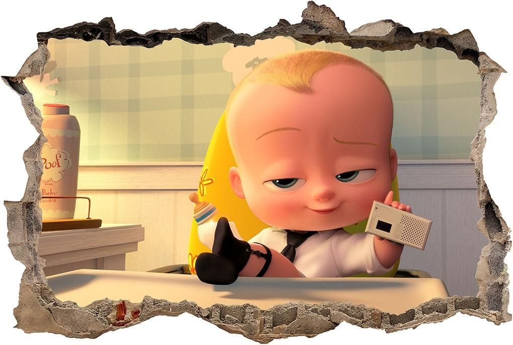 3199a6193c91 The Boss Baby Smashed Wall Decal Graphic Sticker