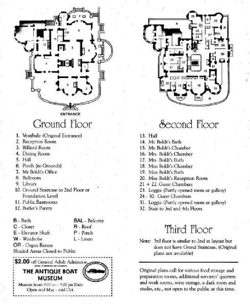 Boldt Castle Floor 1 2 Floor Plans Castle Floor Plan