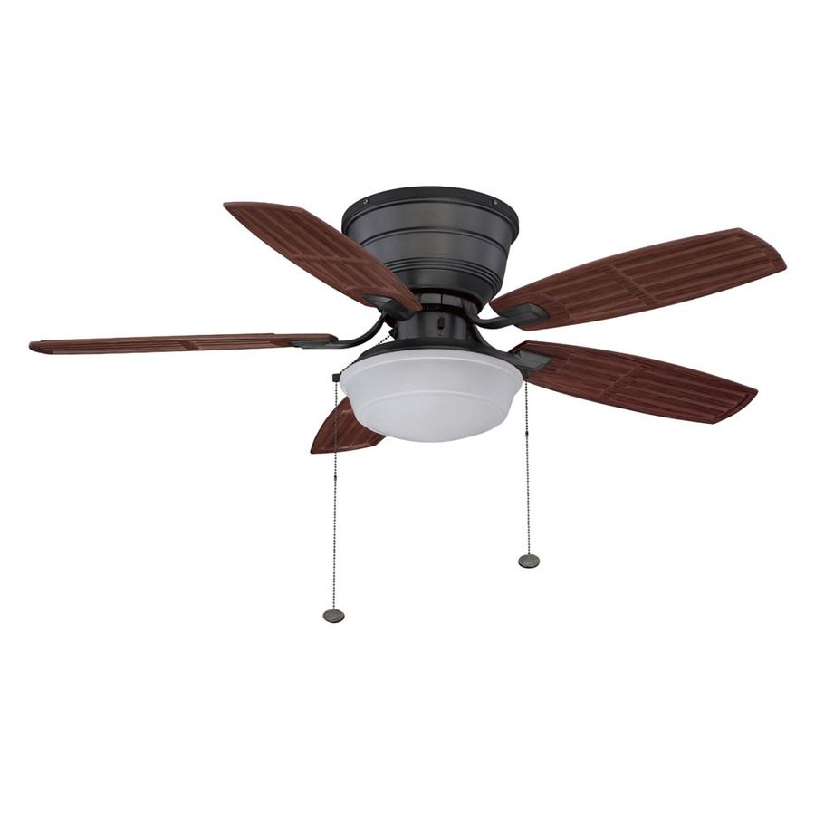 Shop Litex 44 In Natural Iron Outdoor Flush Mount Ceiling Fan With Light Kit At Lowes Com Ceiling Fan Ceiling Fan With Light Exterior Ceiling Fans