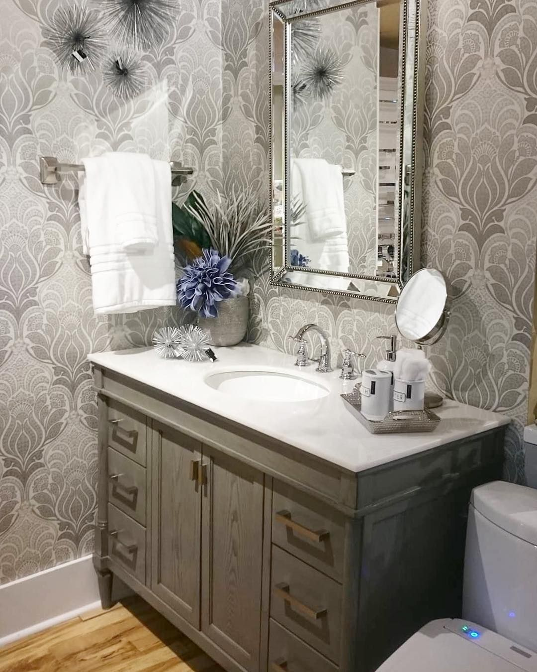 Neutral Colors For Small Powder Rooms: You Could Say That @theplumberswife238's Powder Room Has