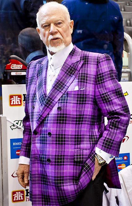 Don Cherry Does Purple His Jackets Make My Day P Don Cherry Jackets Hockey Pictures