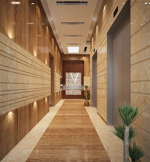 Designing Tips Of Corridors Decoration Ideas: Residence Lift Lobby Design - Google Search