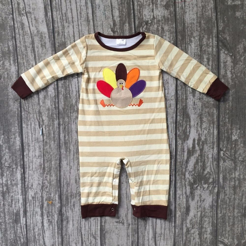 Viworld Baby Boy Girl Thanksgiving Romper Toddler Turkey Jumpsuit One-Piece Fall Winter Clothes