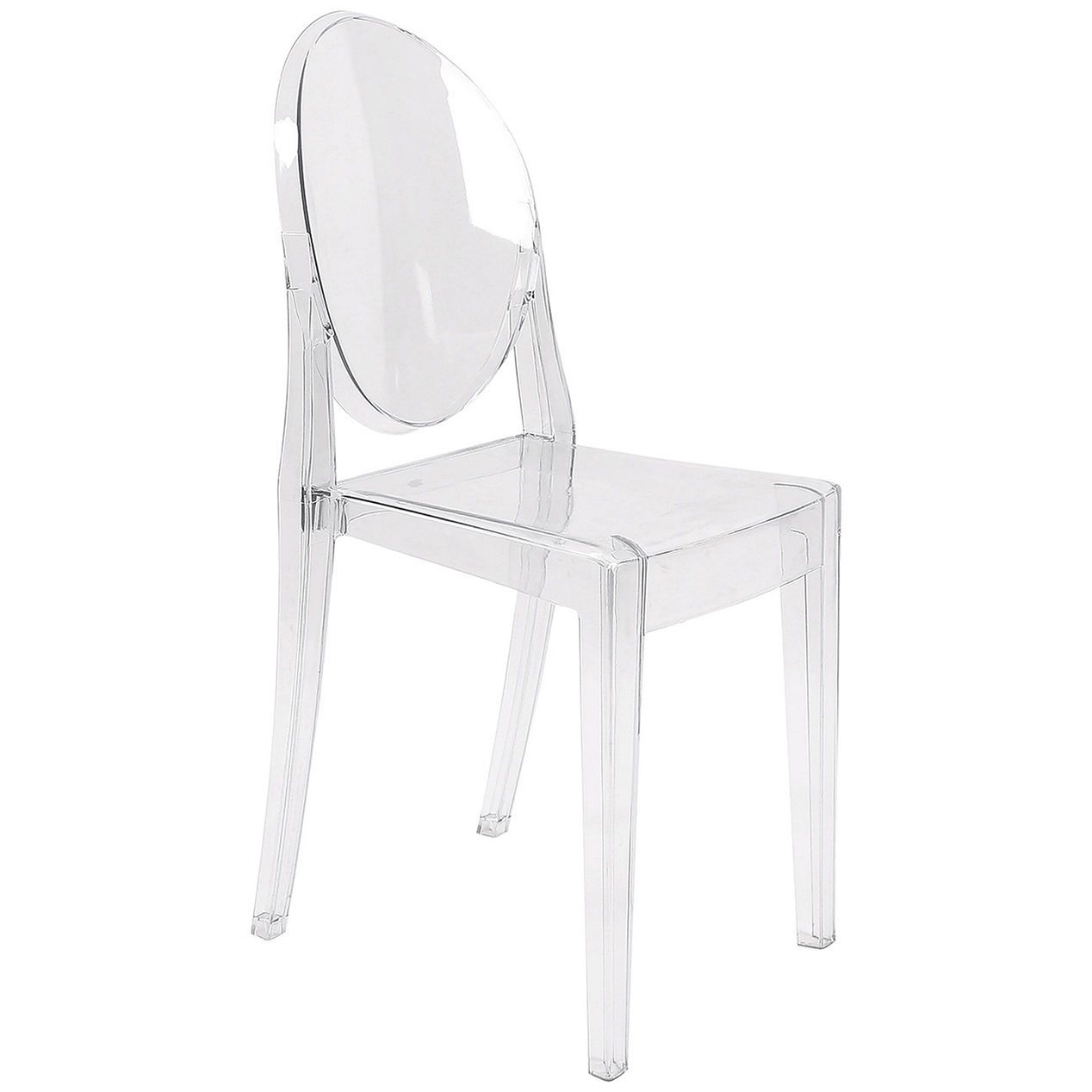 Armless Clear Ghost Chair - At Home | At Home. Kids desk ...