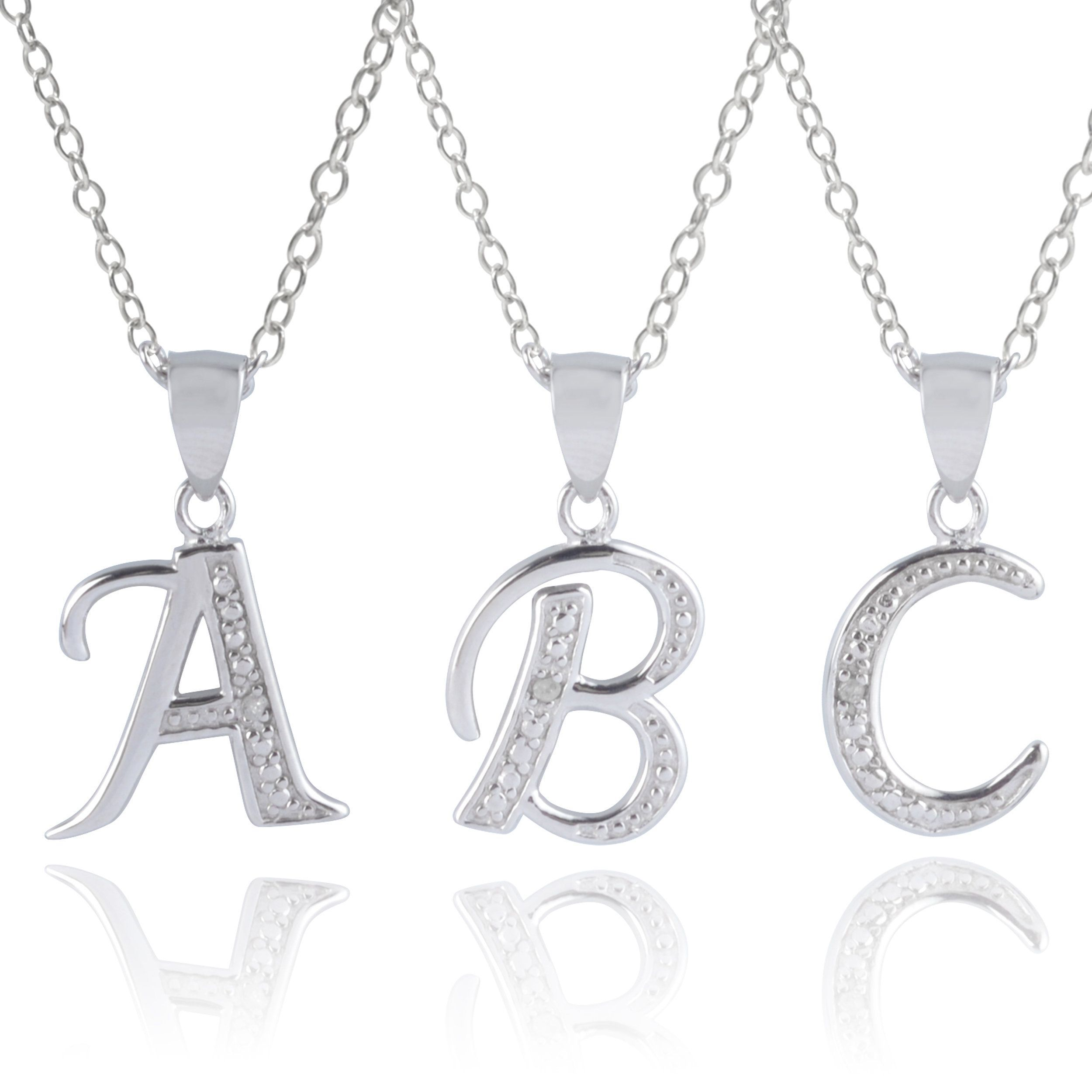 Journee collection sterling silver diamond accent letter pendants z