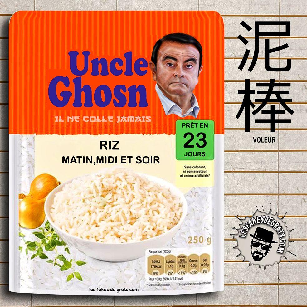 Carlos Ghosn riz matin midi et soir … Au Japon, les