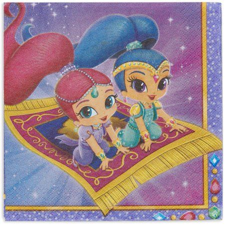 Shimmer and Shine Lunch Napkins, 16 Count, Party Supplies