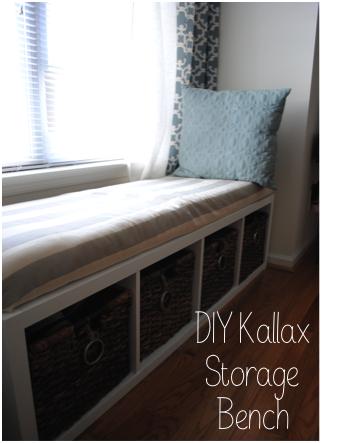 Sweet sabol diy kallax storage bench do it yourself for Corner bench with storage ikea