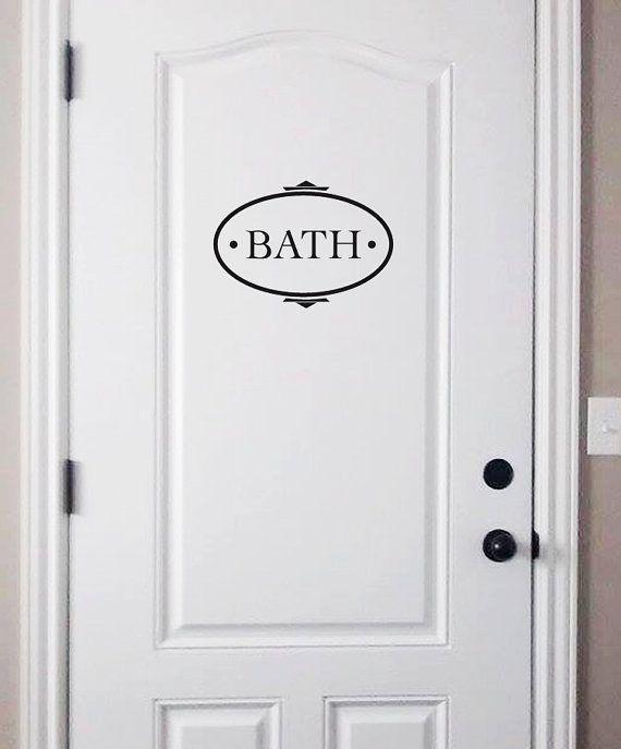 bath+decal+door+decal+bath+vinyl+decal+by+dadavinylsanddesigns