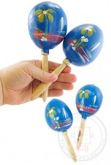 Mexican Maracas Musical Blue Pair | Toys for Dads | TinToyArcade |
