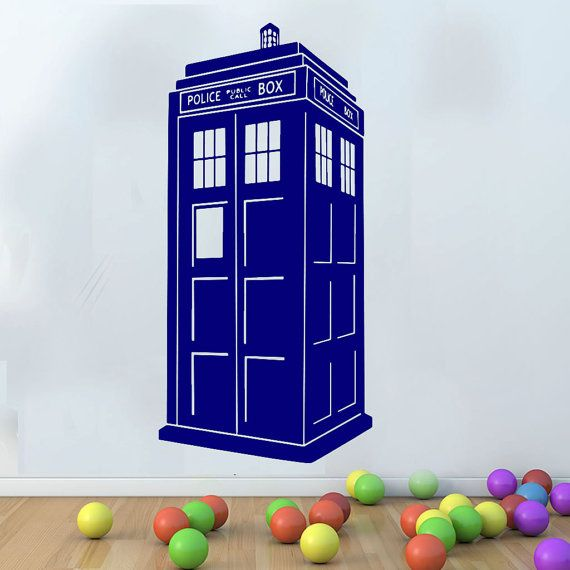 colorful booth Tardis booth Vinyl Wall Decals Doctor Who booth Wall Decals Doctor Who vinyl decal wall decor Large Wall Sticker cik1862