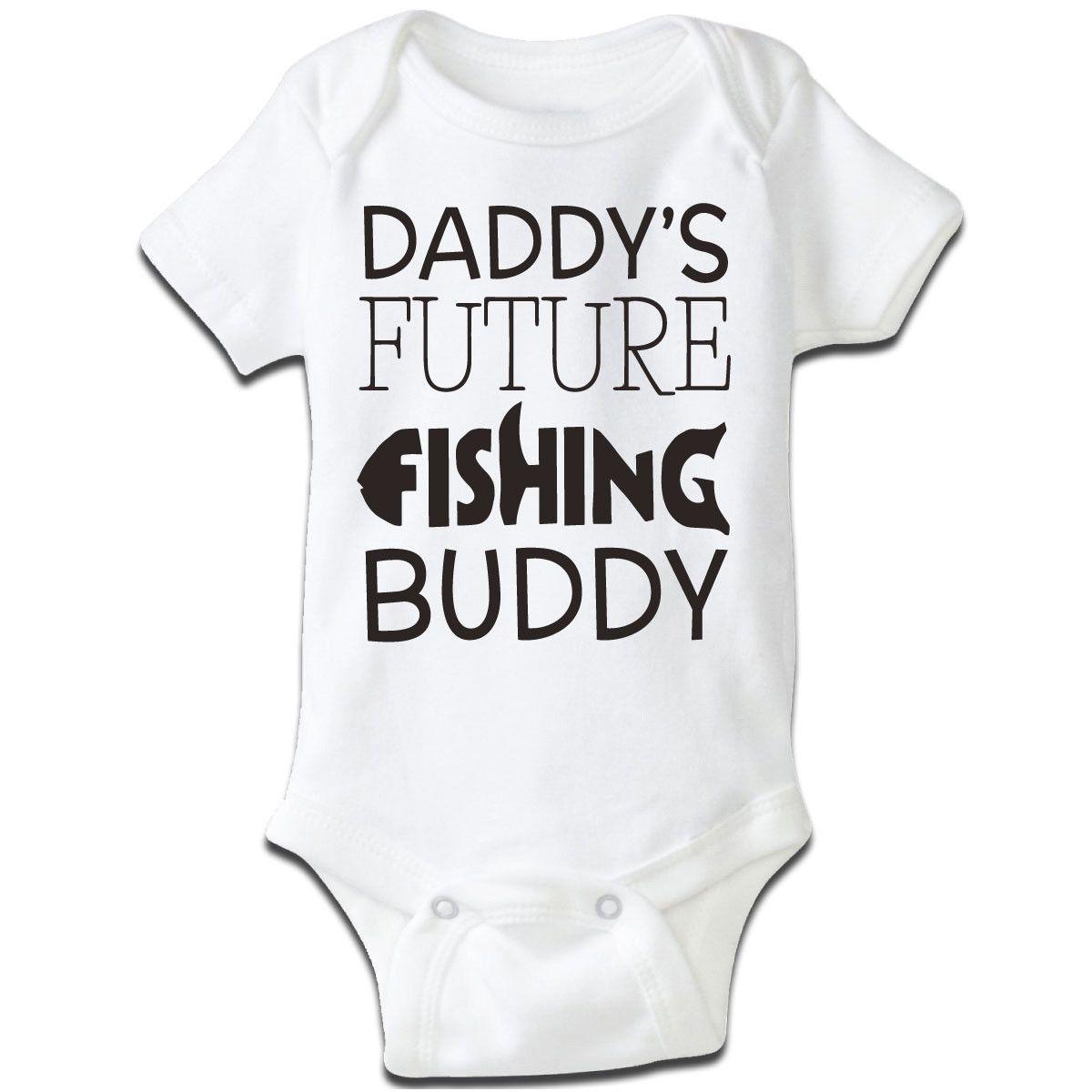 short sleeve Daddy/'s Fishing Buddy baby bodysuit grow boys girls