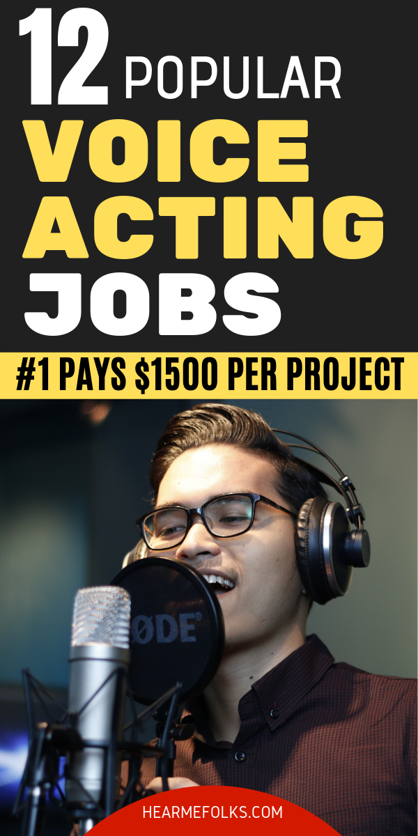 12 Popular Voice Over Jobs Up to 3000 Per Project The