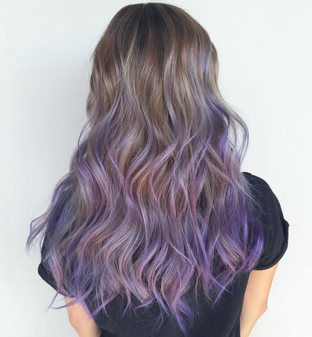 Plum Colored Hair Of Lavender Ombre Brown Ehero