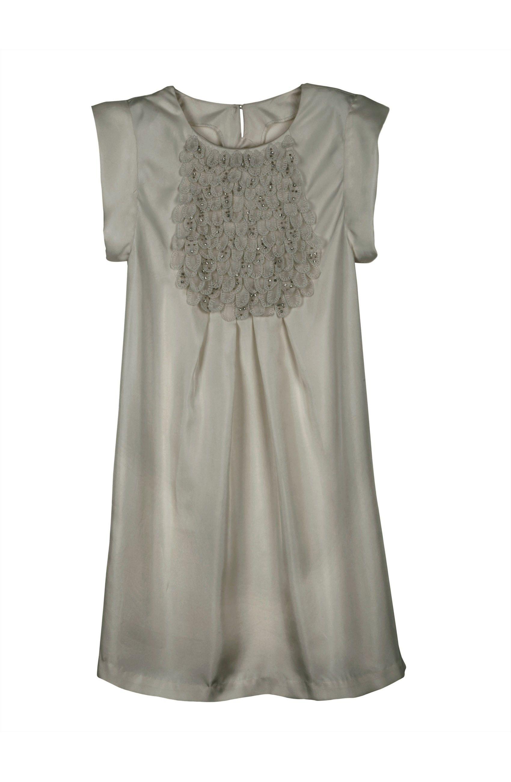Neutral + Feminine. I wanna wear this with opaque leggings and peep-toe pumps.  Dress by Paul & Joe