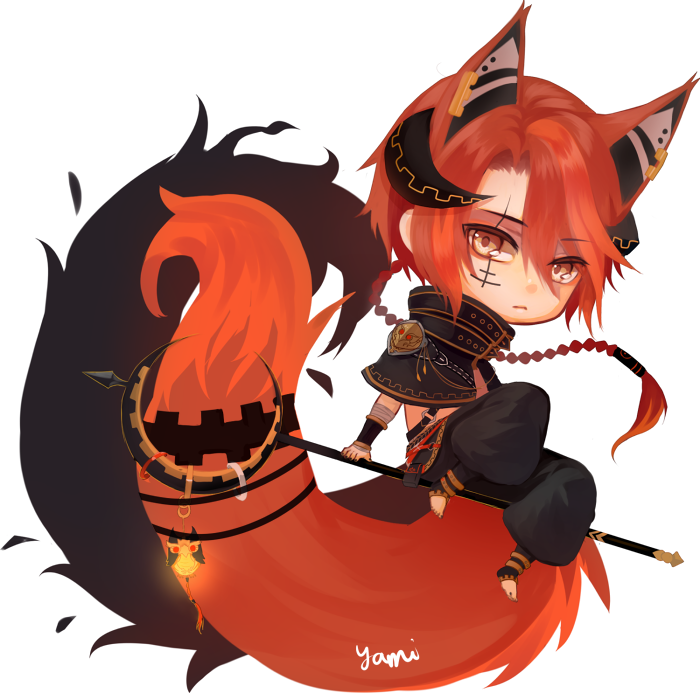 Chibi Commission Inurenko Anime Fox Boy Cute Anime Chibi Anime