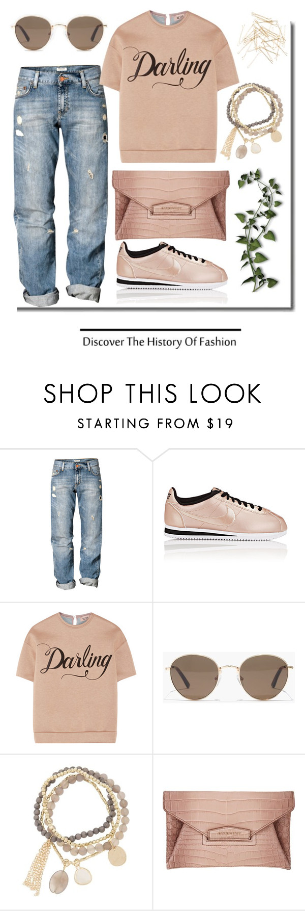 """The Great Discovery."" by schenonek ❤ liked on Polyvore featuring H&M, NIKE, N°21, Madewell, DesignSix, Givenchy and Monki"