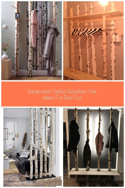 Ideen Fuer Den Flur Birkenstamm Garderobe Garderoben Selbst