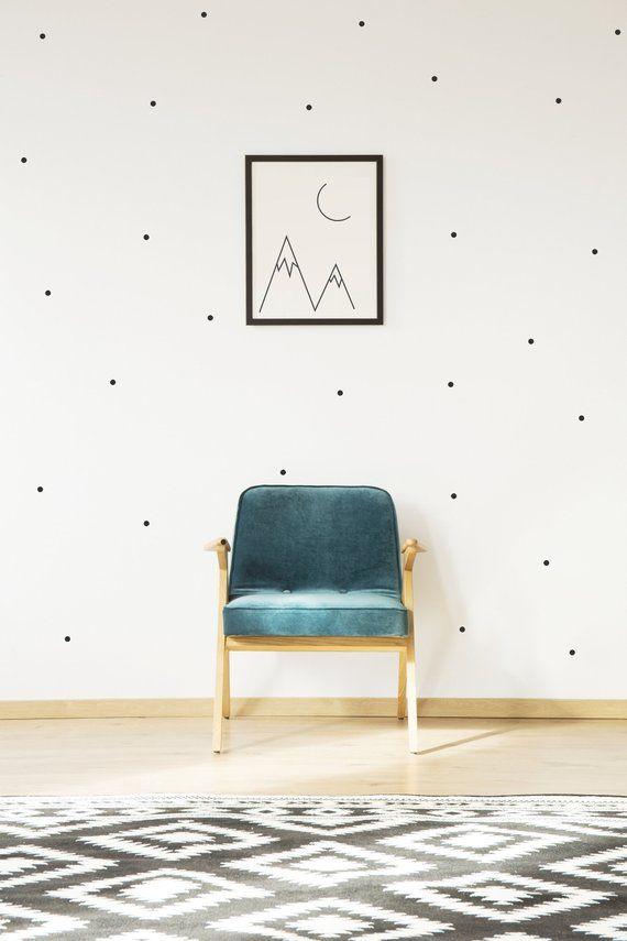 Small Polka Dot Vinyl Wall Sticker Decal Art Decor Nursery Etsy Wall Decor Bedroom Bedroom Wall Wall Decor Stickers