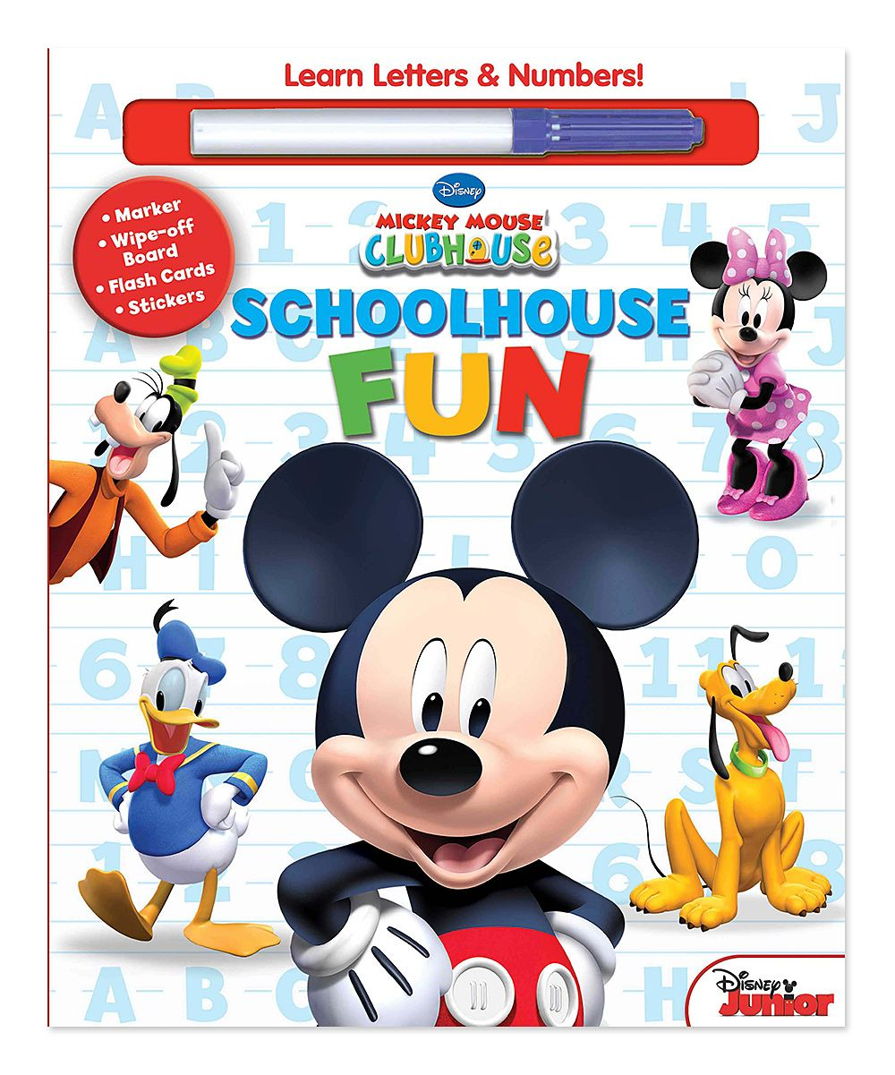 Mickey Mouse Clubhouse Schoolhouse Fun Book Minnie Mouse Party