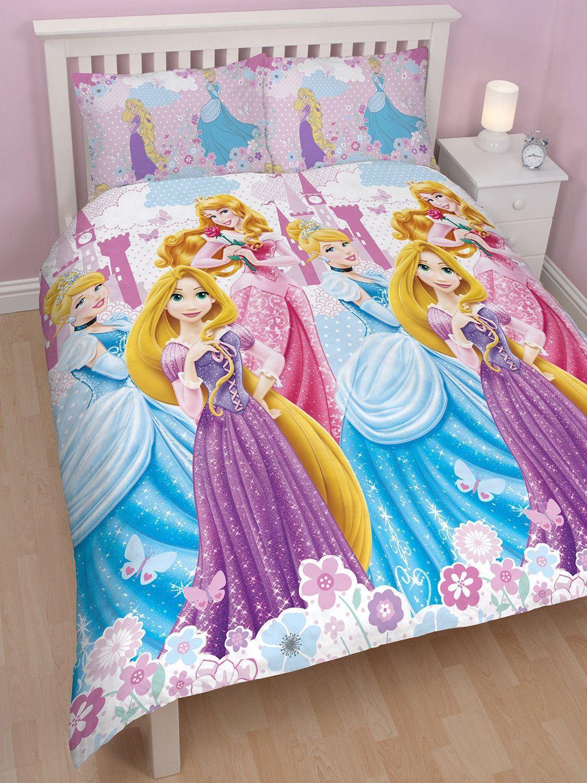 Disney Princess Dreams Double Duvet Cover Set Duvet Sets Girly Bedroom Kids Toddler Bed