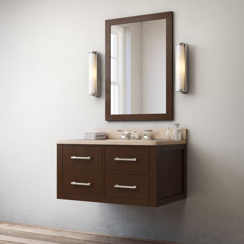 Restoration Hardware Hutton Single Floating Vanity Espresso 3D