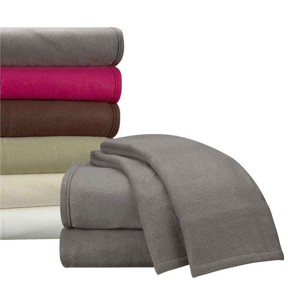 Bed Sheet Set Full Size Blue 4 Piece Plush Fleece Deep Pocket Ultra Soft Solid