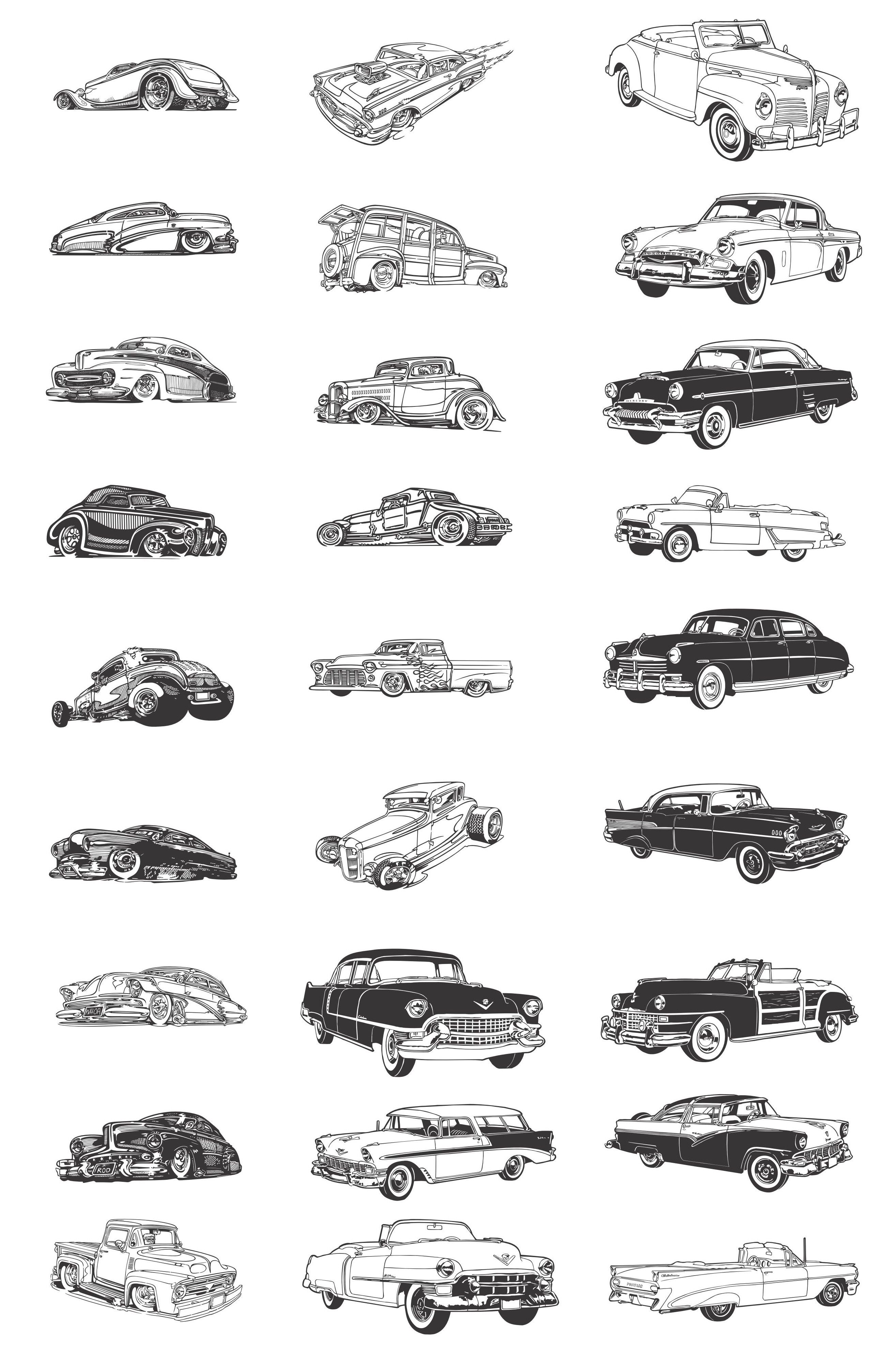 Old Classic Cars Silhouettes we can cover all these models and a ...