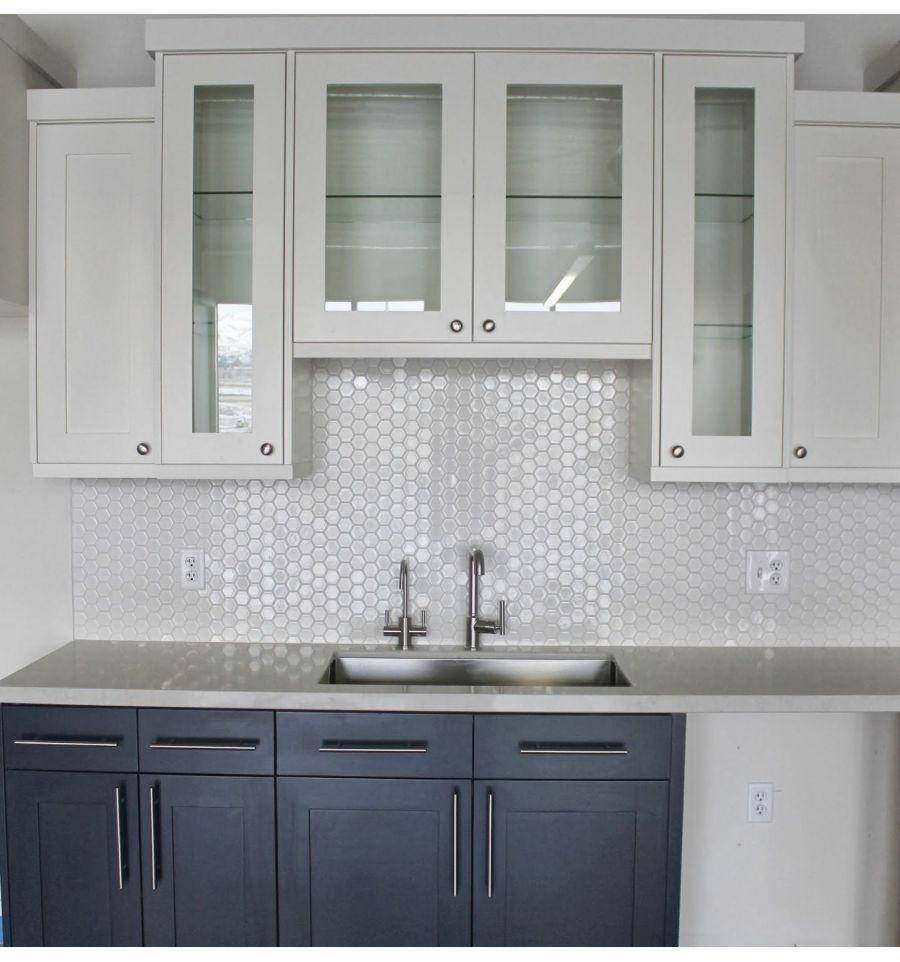 Kitchen sink without window  mozaika hexagon duży biały szkliwiony  rawdecor  kitchen