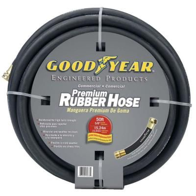 Continental Premium 5 8 In Dia X 50 Ft Commercial Grade Rubber Black Water Hose 20258074 The Home Depot Water Hose Hose Commercial Landscaping