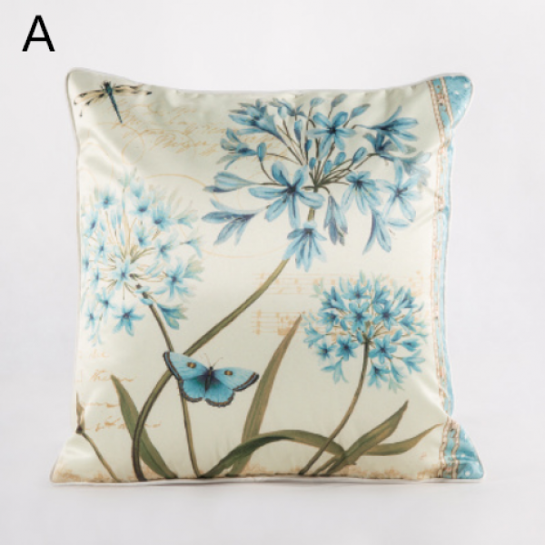 Fresh flower throw pillow for home decoration pastoral style