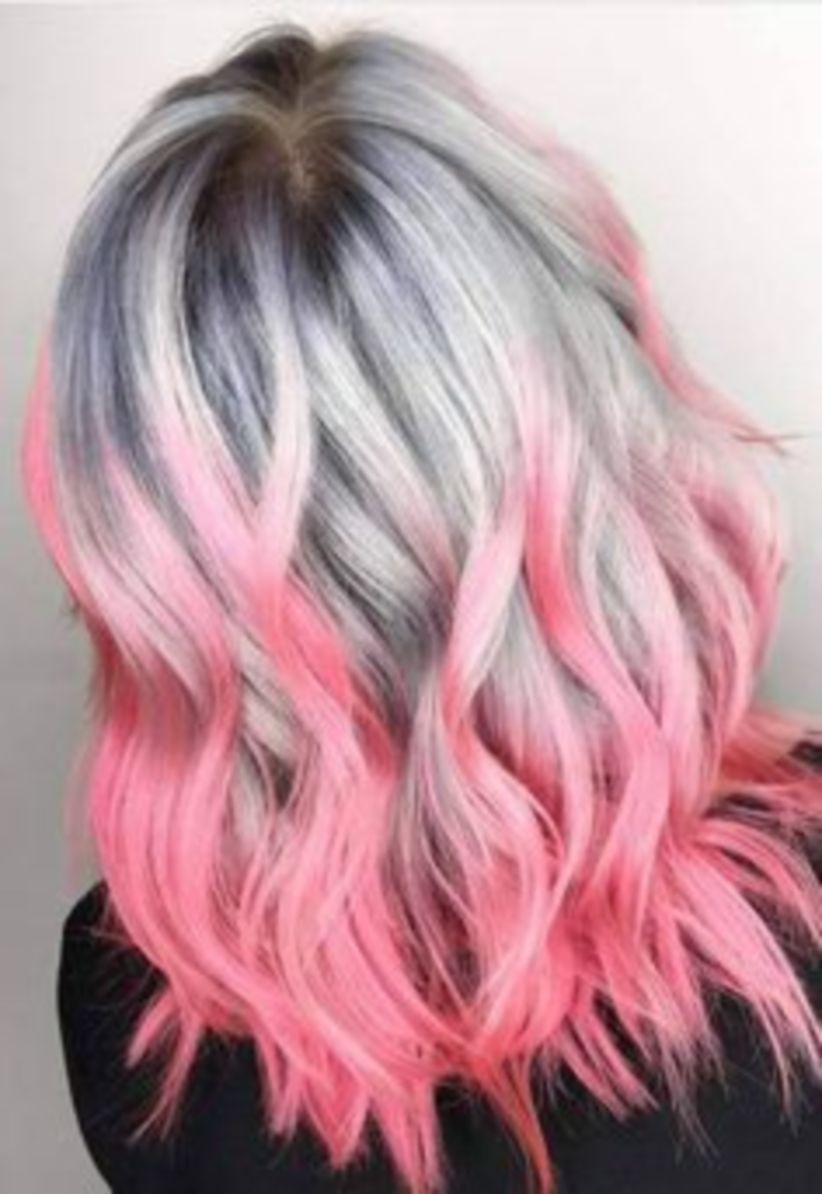 46 Beautiful Pink Hair Color Ideas To Makes You Looks Stunning Vis Wed Silver Hair Color Unicorn Hair Color Splat Hair Color