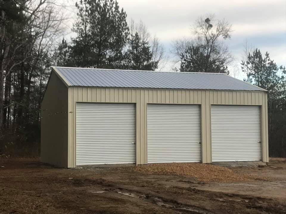 Awesome metal garage! | Construction, She sheds, Metal garages