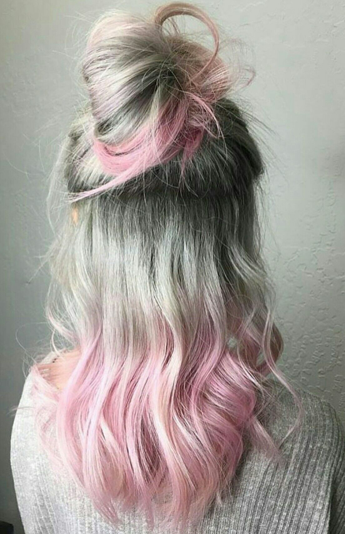 Silver And Pink Top Knot Fabulously Pinteresting Pinterest