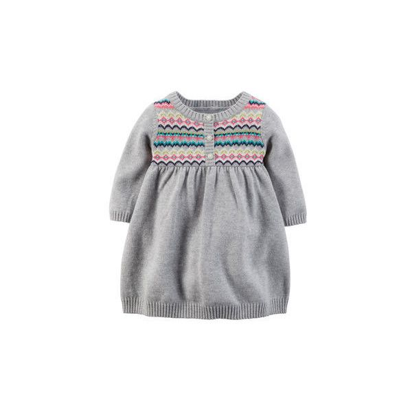 Fair Isle Sweater Dress (€21) ❤ liked on Polyvore featuring baby ...