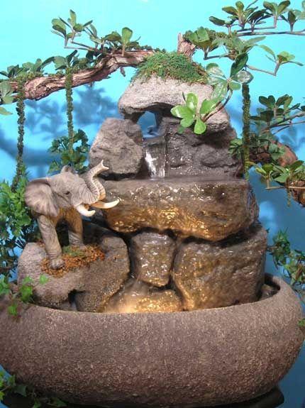 DIY Tabletop Fountains Jardinería Pinterest Fuentes, Cascadas