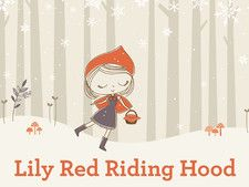 Lily Red Riding Hood ebook for ipad. #ebook #ipad #kids #book #cute #winter #illustration #itunes #little_red_riding_hood #lily