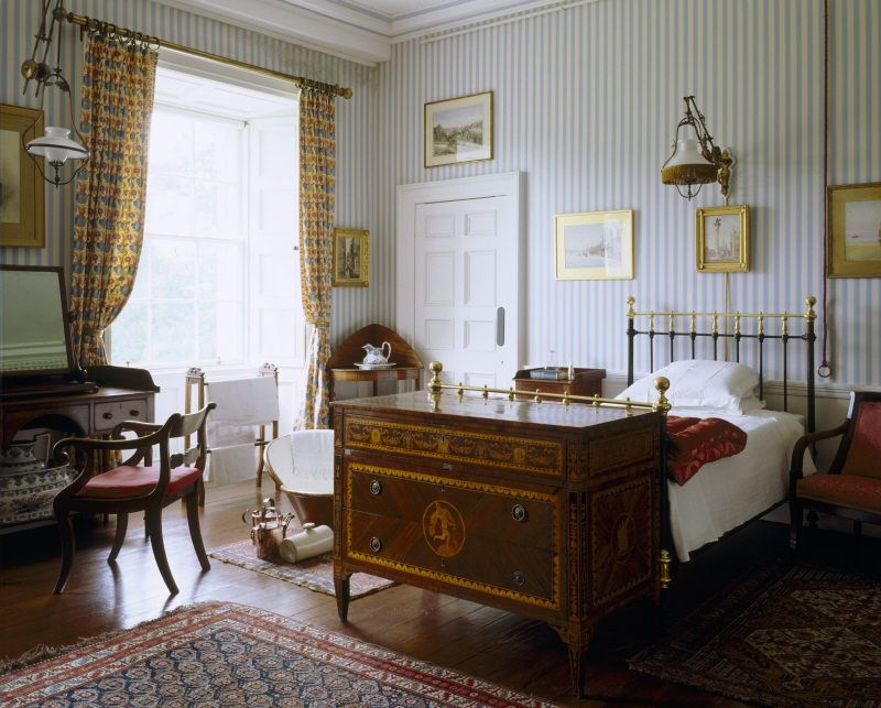 Captain Shelton\'s bedroom, The Argory, Co Armagh, Northern Ireland ...