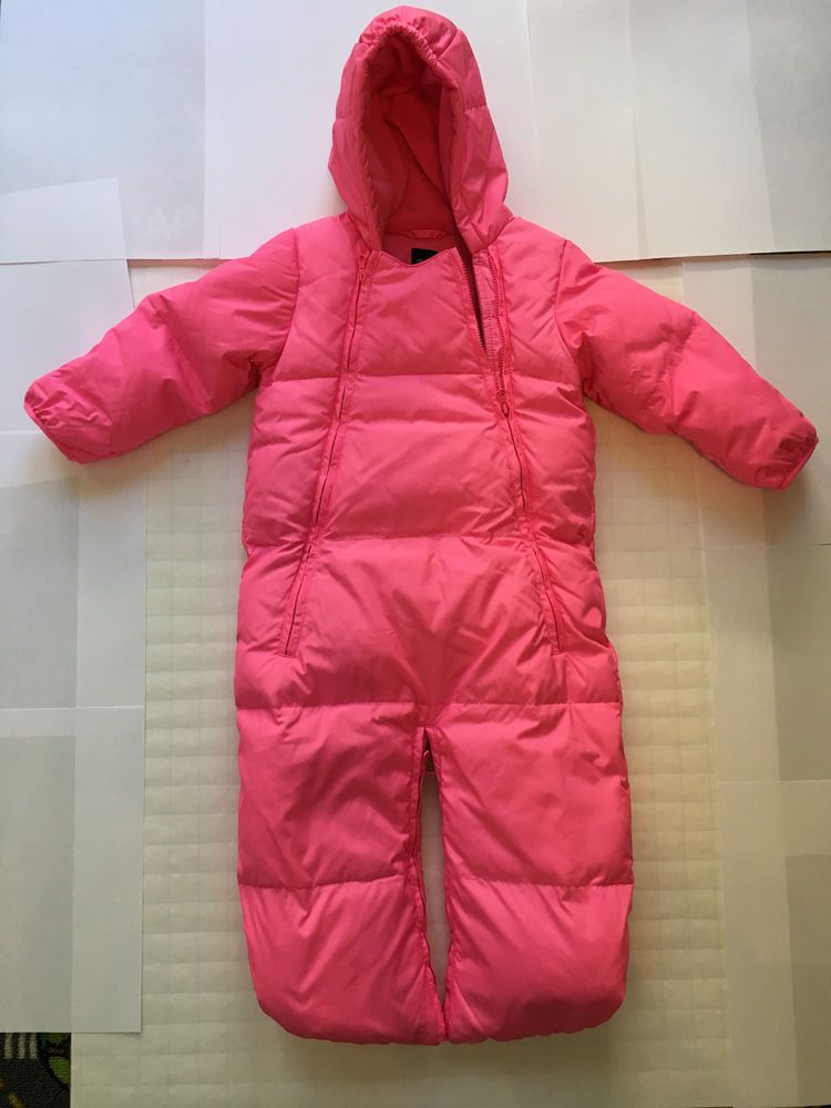 b3273dddebcd Baby Gap Girls Toddler Bunting Snow Suit Coverall 6-12 Month Pink ...