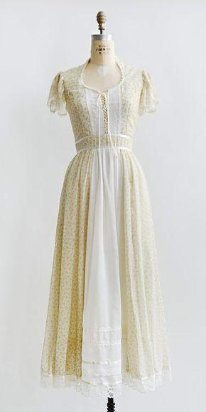vintage 1970s cream floral Gunne Sax boho dress | Old time grace. by ...