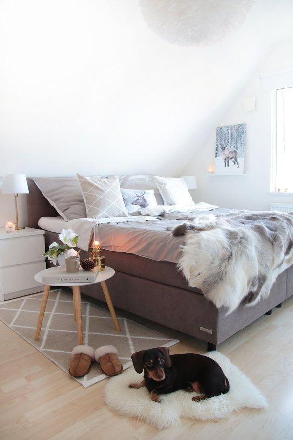 Gemütlichkeit im Schlafzimmer in 2018 Dachgeschoss ♡ Wohnklamotte - schlafzimmer ideen einrichtung