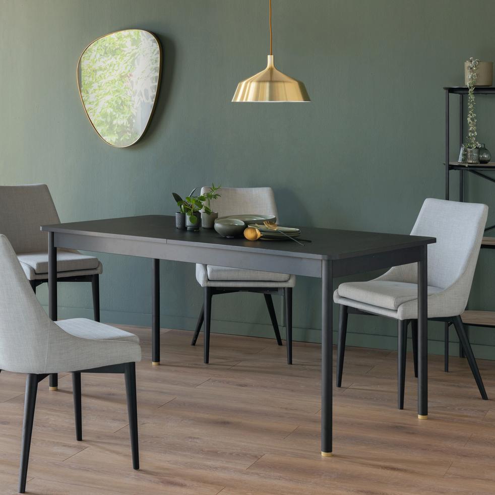 Chaises Alinea Salle A Manger chaise en tissu gris pieds noirs - abby - chaises - alinea